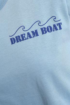 RAG & BONE Printed slub cotton-jersey T-shirt