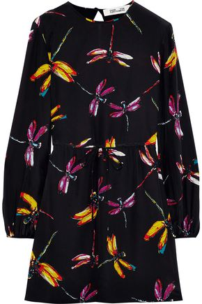 DIANE VON FURSTENBERG Cara printed washed-silk mini dress