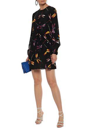 DIANE VON FURSTENBERG Cara printed washed-silk mini dress