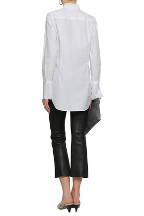 RAG & BONE Paneled cotton-poplin and crepe shirt
