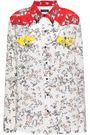 RAG & BONE Embellished printed silk crepe de chine shirt