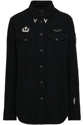 RAG & BONE Appliquéd cotton shirt
