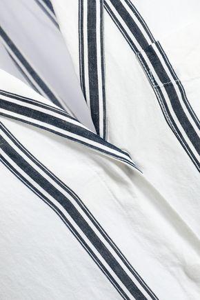 RAG & BONE ストライプ コットン&リネン混 シャツ