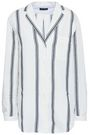 RAG & BONE Striped cotton and linen-blend shirt