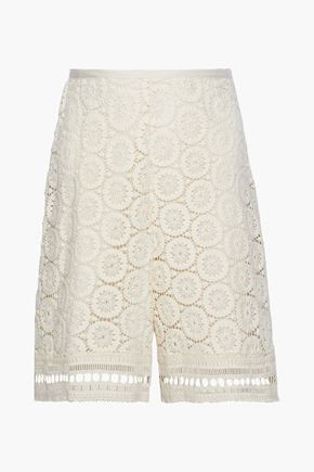SEE BY CHLOÉ Crocheted cotton shorts