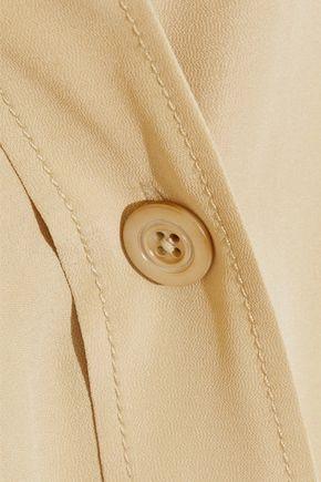 JOSEPH Locke belted washed-silk midi shirt dress