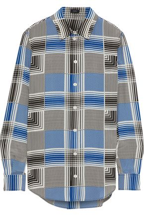 JOSEPH Gars checked silk crepe de chine shirt