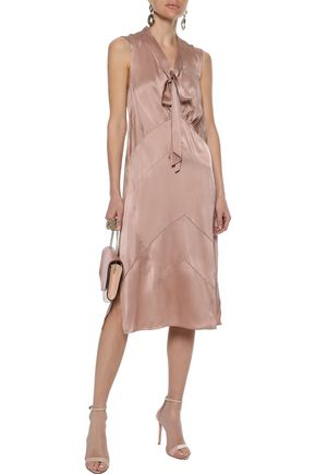 BURBERRY Tie-neck silk-charmeuse dress