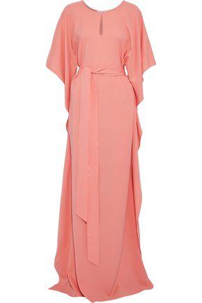 d88321226631f9 OSCAR DE LA RENTA Draped stretch-silk gown