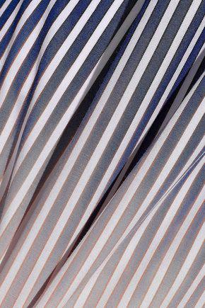 DEREK LAM 10 CROSBY Dégradé striped cotton-poplin shirt dress