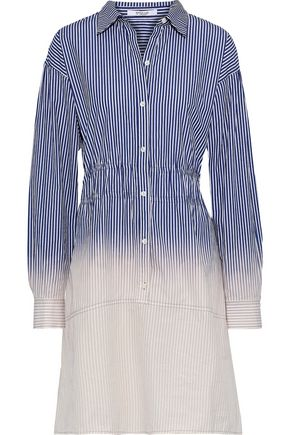DEREK LAM 10 CROSBY Dégradé striped cotton-poplin shirt dress