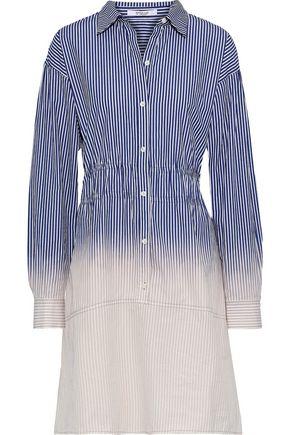 a87c83fd060c1 DEREK LAM 10 CROSBY Dégradé striped cotton-poplin mini dress