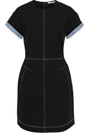 DEREK LAM 10 CROSBY Stretch-cotton twill mini dress