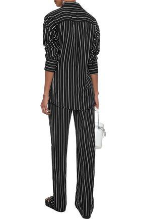 W118 by WALTER BAKER Tamara striped crepe de chine shirt
