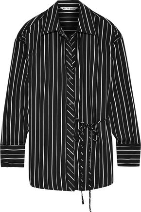 W118 by WALTER BAKER Tamara striped crepe de chine shirt