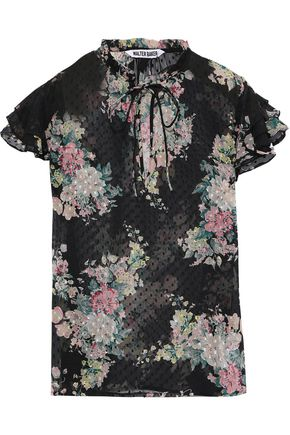 W118 by WALTER BAKER Hoffman floral-print fil coupé georgette blouse