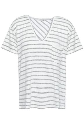 RAG & BONE Striped stretch-knit T-shirt