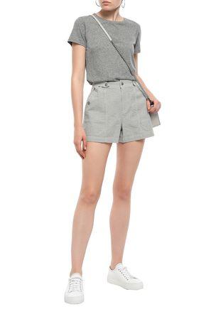 RAG & BONE Striped cotton-seersucker shorts