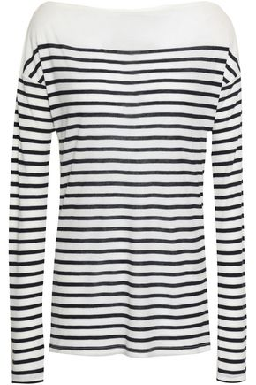 RAG & BONE Striped ribbed jersey top