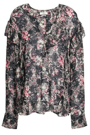 ISABEL MARANT ÉTOILE Ruffled printed crepe blouse