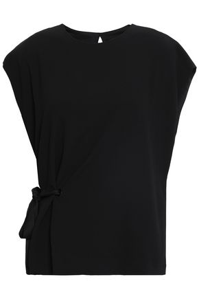 RAG & BONE Bow-detailed crepe top
