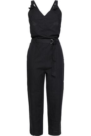 RAG & BONE Cropped belted linen jumpsuit