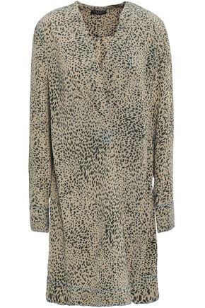 RAG & BONE Wrap-effect printed washed-silk mini dress