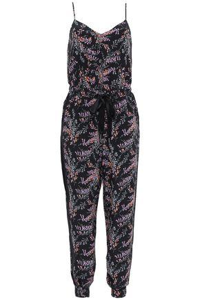 CINQ À SEPT Amia floral-print silk crepe de chine jumpsuit