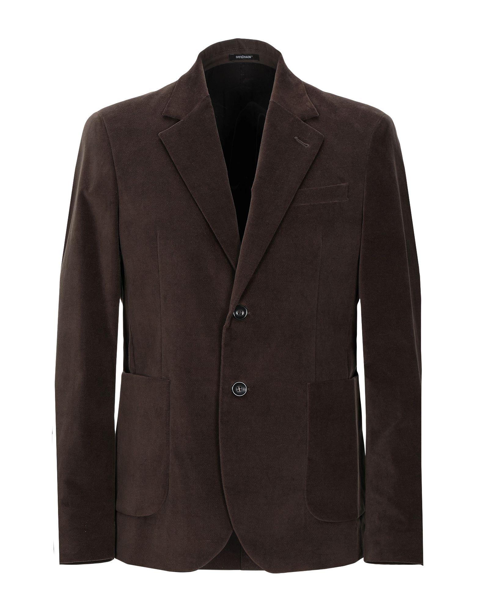 《セール開催中》OFFICINA 36 メンズ テーラードジャケット ココア 52 コットン 98% / Elite 2%