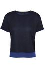 RAG & BONE Metallic-trimmed ribbed-knit top