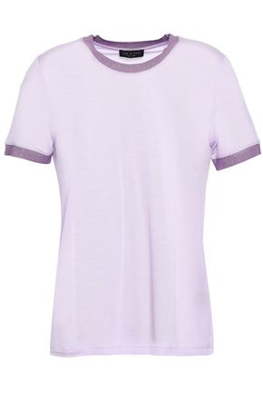 RAG & BONE Metallic-trimmed jersey T-shirt