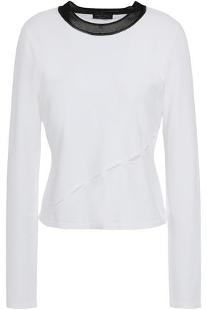 RAG & BONE Cutout stretch-knit top