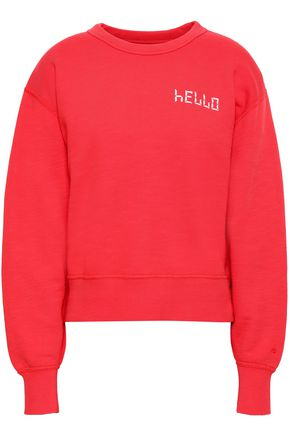 RAG & BONE Embroidered French cotton-terry sweatshirt