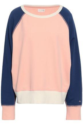 RAG & BONE Color-block French cotton-terry sweatshirt