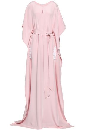 OSCAR DE LA RENTA Oversized silk-crepe gown