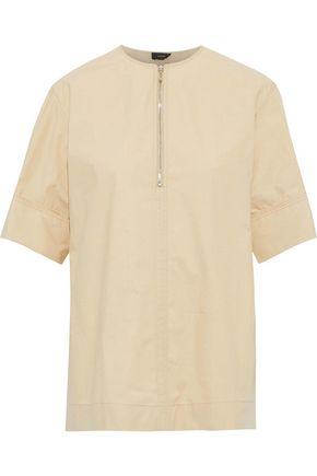 JOSEPH Briar zip-detailed cotton-poplin top