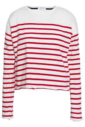 RAG & BONE Striped cotton-jersey sweater
