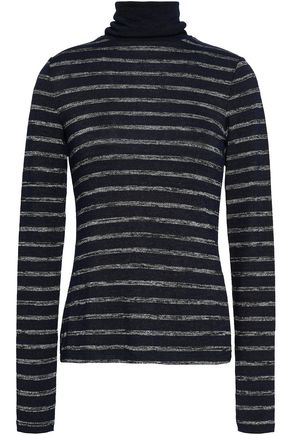 RAG & BONE Striped knitted turtleneck top