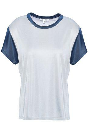 RAG & BONE Penny two-tone satin-jersey T-shirt