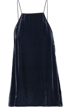 CAMI NYC Charlie lace-paneled velvet camisole