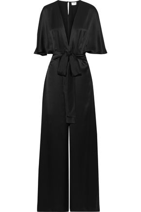 CAMI NYC Belted silk-satin jumpsuit