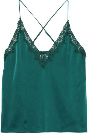 CAMI NYC The Everley lace-trimmed silk-charmeuse camisole
