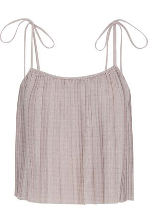 W118 by WALTER BAKER Kristi pleated metallic knitted top