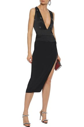CAMI NYC The Jordana embellished silk-satin bodysuit