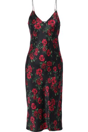 CAMI NYC The Raven floral-print silk-charmeuse midi slip dress