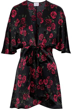 CAMI NYC The Lane floral-print silk-charmeuse mini dress