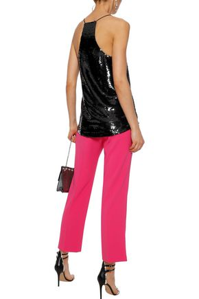 CAMI NYC The Racer lace-trimmed sequined mesh camisole