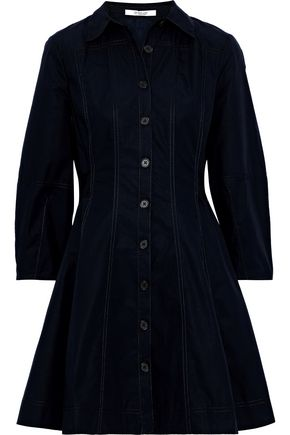 DEREK LAM 10 CROSBY Flared cotton-poplin mini dress