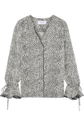 DEREK LAM 10 CROSBY Printed fil coupé silk-blend blouse
