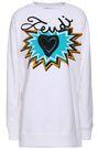 FENDI Embellished printed cotton-fleece sweatshirt